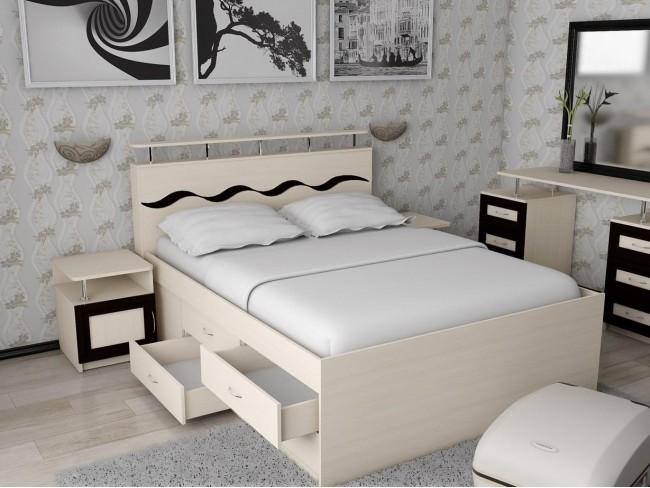 Кровать двухспальная Волна-4