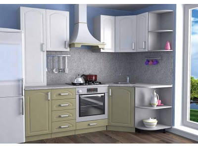 Кухня Белый/Олива